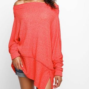WE THE FREE by FP Londontown Red Oversized Top | M